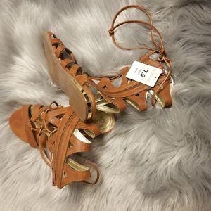 Super Cute Tan CoverGirl Roman Sandals